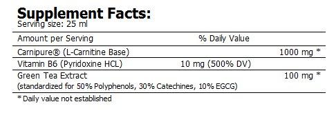CarniLean 1000 nutriční hodnoty